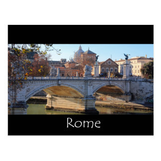 Ponte Vittorio Emanuele ll - Rome Postcard