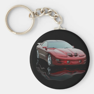 Pontiac Basic Round Button Keychain