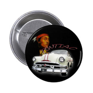Pontiac Chieftain 1953 Pin Redondo 5 Cm