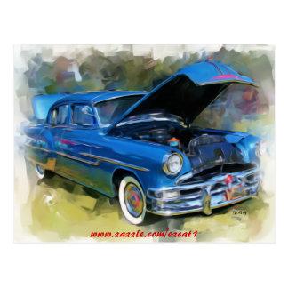 Pontiac Chieftain 1953 Tarjeta Postal