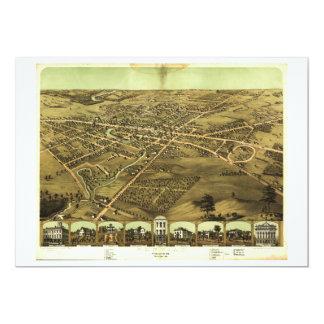 """Pontiac el condado de Oakland Michigan (1867) Invitación 5"""" X 7"""""""