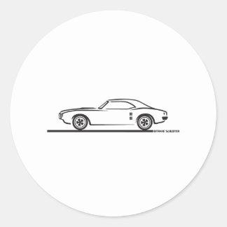 Pontiac Firebird 1968 Pegatinas Redondas