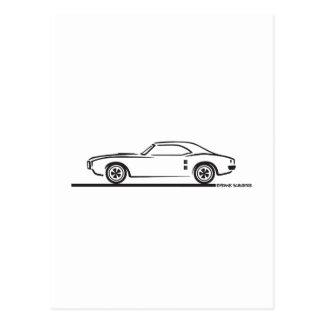 Pontiac Firebird 1968 Tarjeta Postal