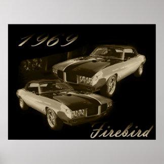 Pontiac Firebird 1969 Póster
