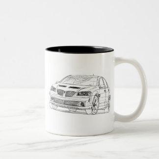 Pontiac G8 GT 2008 Two-Tone Coffee Mug