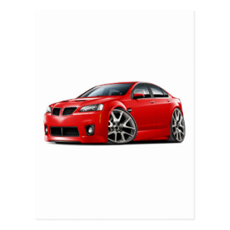 Pontiac G8 GXP Red Car Postcard