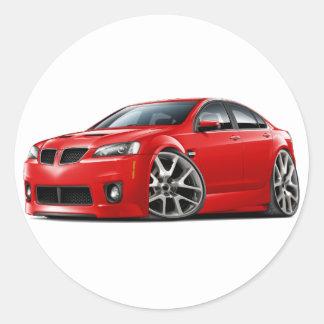 Pontiac G8 GXP Red Car Round Stickers