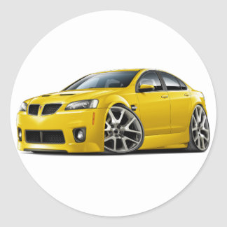 Pontiac G8 GXP Yellow Car Sticker