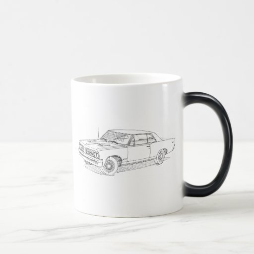 Pontiac GTO 1964 blk Coffee Mug