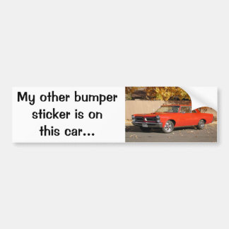 Pontiac GTO Bumper Sticker