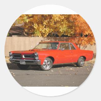 Pontiac GTO Classic Round Sticker