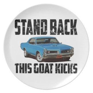 Pontiac GTO retrocede retrocesos de esta cabra Platos Para Fiestas