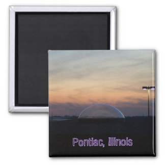 Pontiac, Illinois 2 Inch Square Magnet