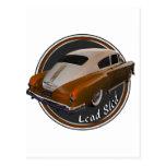 pontiac lead sled copper lowrider postcard