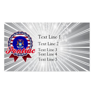 Pontiac, MI Double-Sided Standard Business Cards (Pack Of 100)