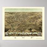 Pontiac, MI Panoramic Map - 1867 Print