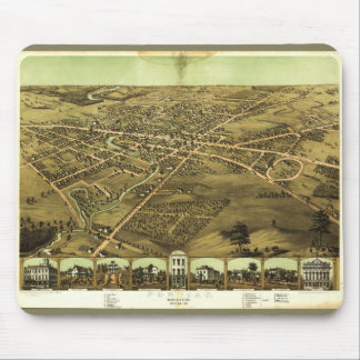 Pontiac Oakland County Michigan (1867) Mouse Pad