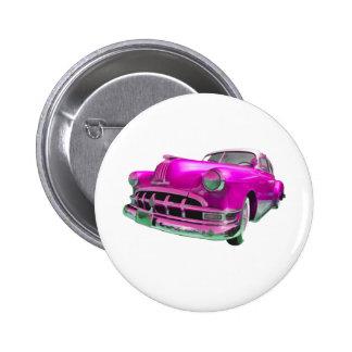 pontiac pink pinback button