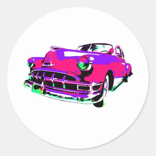 pontiac wild 2 classic round sticker