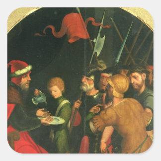 Pontius Pilate washing his Hands Square Sticker