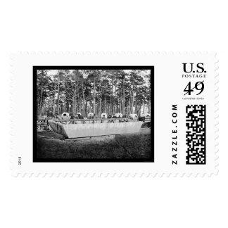 Pontoon Boat at Rappahannock Station, VA 1864 Postage Stamp