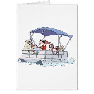 Pontoon Boat Card