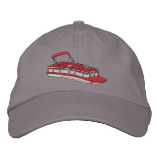Pontoon Boat Embroidered Baseball Hat