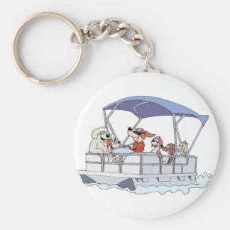 Pontoon Boat Keychain