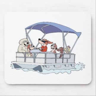 Pontoon Boat Mouse Pad