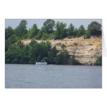 Pontoon by a Cliff Greeting Cards