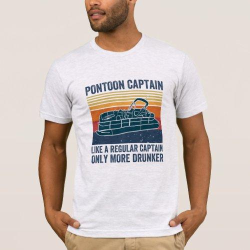 pontoon captain T_shirt