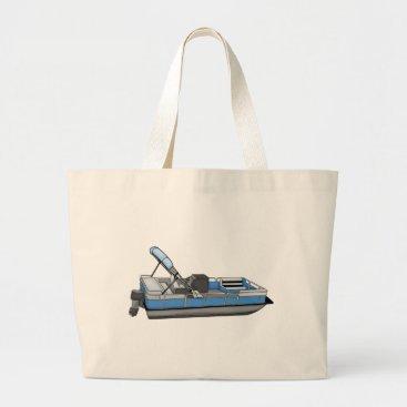 Beach Themed pontoon fun large tote bag