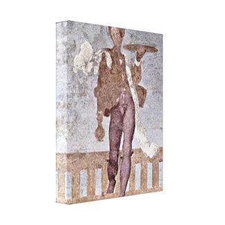 Pontormo - Christ before Pilate Detail Canvas Print