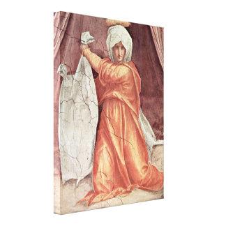 Pontormo - detalle del Veronica del St Impresiones De Lienzo