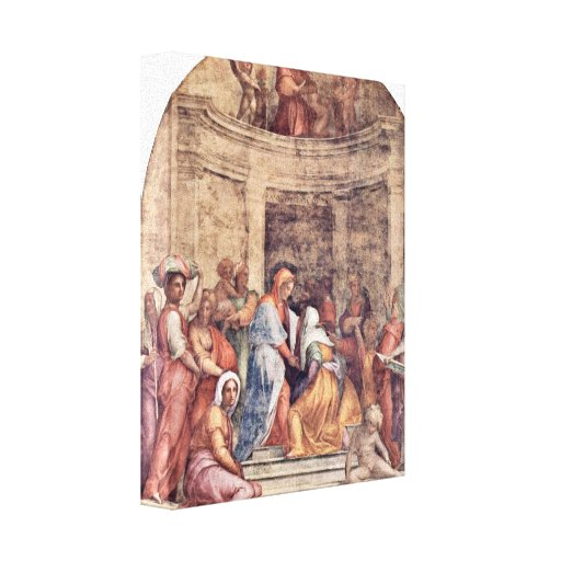 Pontormo - Visitation Stretched Canvas Print