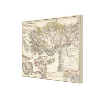 Pontus et Bithynia, Asia, Lycia et Pamphylia Canvas Print