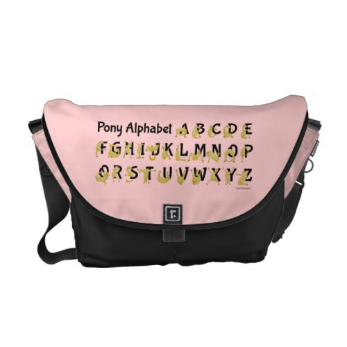 Pony Alphabet Chart, Pink Courier Bags