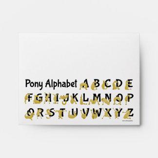 Pony Alphabet Chart, Pink Envelope