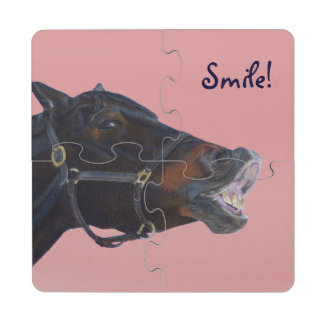 Pony and a Smile Puzzle Coaster