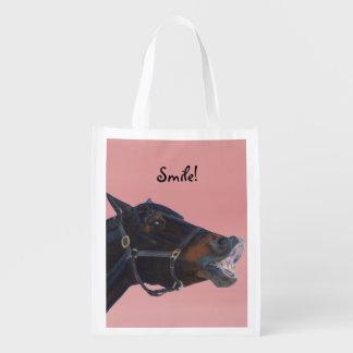 Pony and a Smile Reusable Grocery Bag
