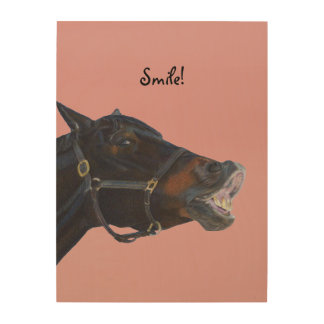 Pony and a Smile Wood Wall Art