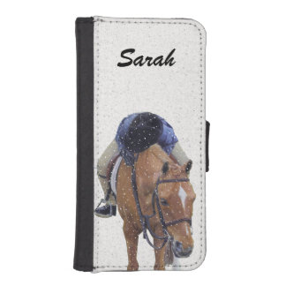 Pony and Girl in the Snow iPhone 5 Wallets