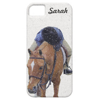 Pony and Girl in the Snow iPhone SE/5/5s Case