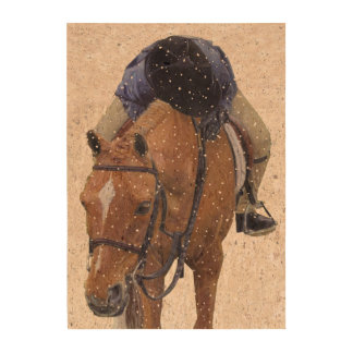 Pony and Girl in the Snow Queork Photo Print