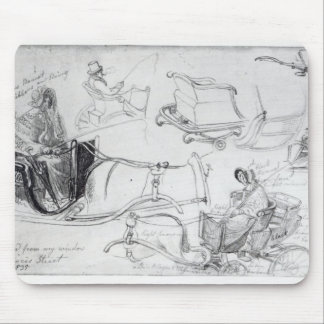 Pony and Traps on Francis Street, London, 1835 Mouse Pad