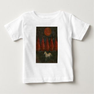Pony And Trees And Moon Baby T-Shirt