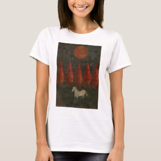 Pony And Trees And Moon T-Shirt