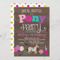 Pony Birthday Party Invitation