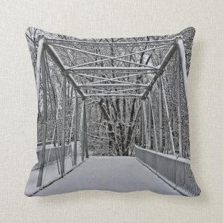 Pony Bridge Winter pillow