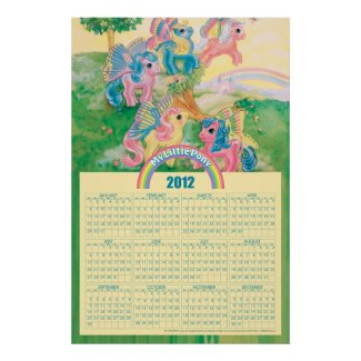 Pony Butterfly Wings 2012 Calendar Poster print